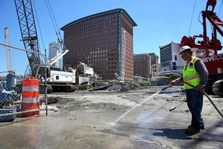 Work continued at the Echelon Seaport site last month.