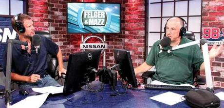 Felger and Tony Massarotti on air in late July.