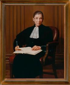 Ruth Bader Ginsburg was among the subjects Mrs. Aronson painted, in 2009.