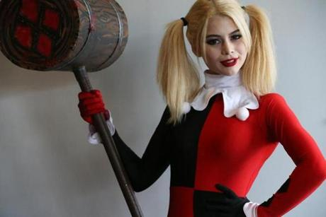 "Jenna Wayen, 18, of Quincy dressed as Harley Quinn from ""Batman."" ""She's my favorite comic character,"" she said."