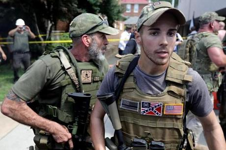 White nationalists and counterprotesters converged.