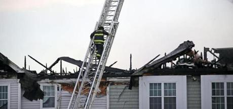 The cause of the fire at the Woodstone Crossing development is under investigation.