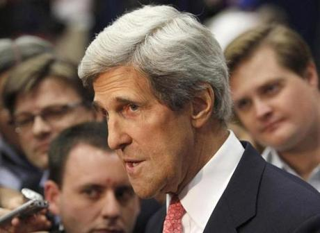 Senator John F. Kerry has been nominated to be the next US secretary of state. There are many potential candidates who could run for his Senate seat.