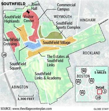 Straddling 3 towns SouthField and its residents face unusual