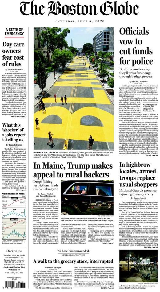 Globe Front Page