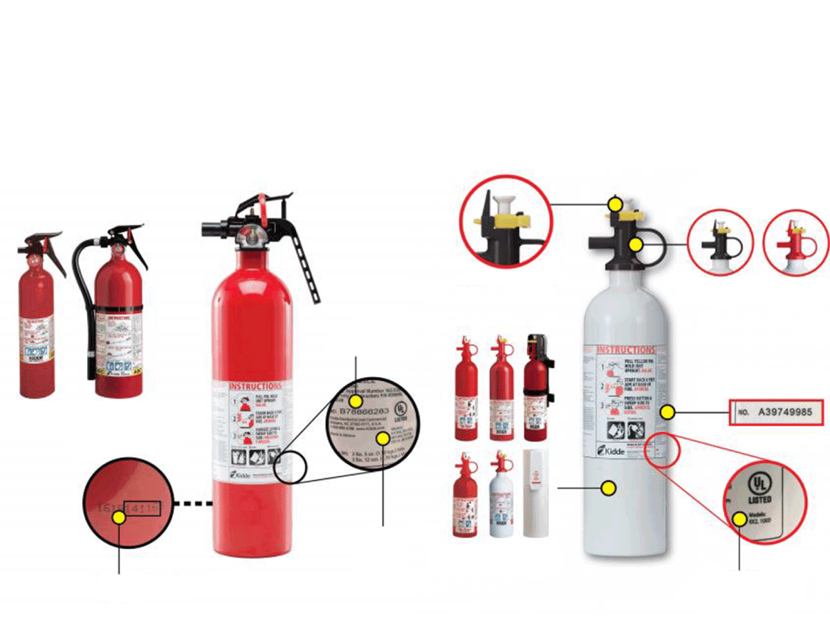 Heres the full list of the 142 fire extinguisher models being